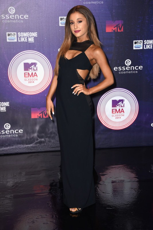 Ariana Grande Lets Her Hair Down At 2014 MTV EMA's