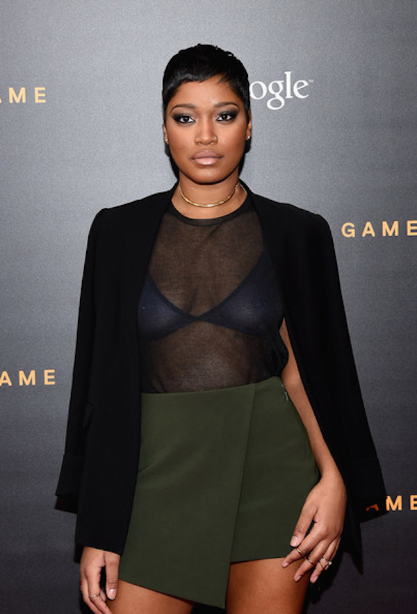 Celebrity Style - Keke Palmer Rocks Wrap Skirt & Thigh High Boots 3
