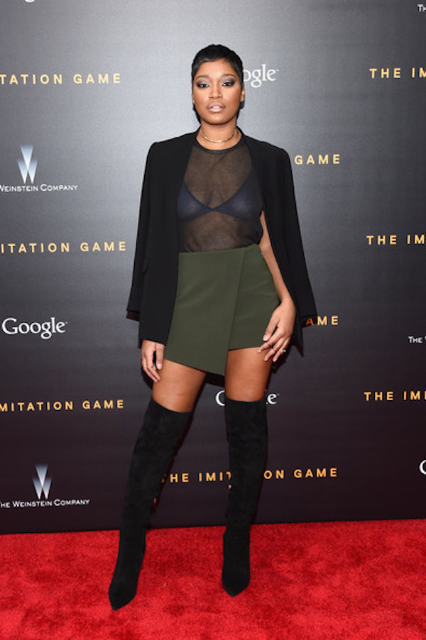 Celebrity Style - Keke Palmer Rocks Wrap Skirt & Thigh High Boots