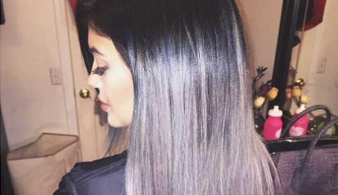 Check Out Kylie Jenner's New Gray Ombre Strands 2
