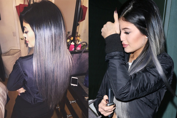 Check Out Kylie Jenner's New Gray Ombre Strands