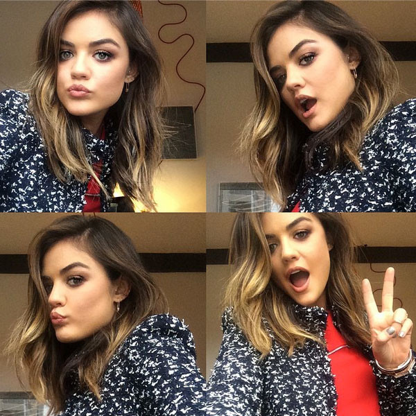 Lucy Hale Instagrams New Haircut With Ombre Blonde Highlights