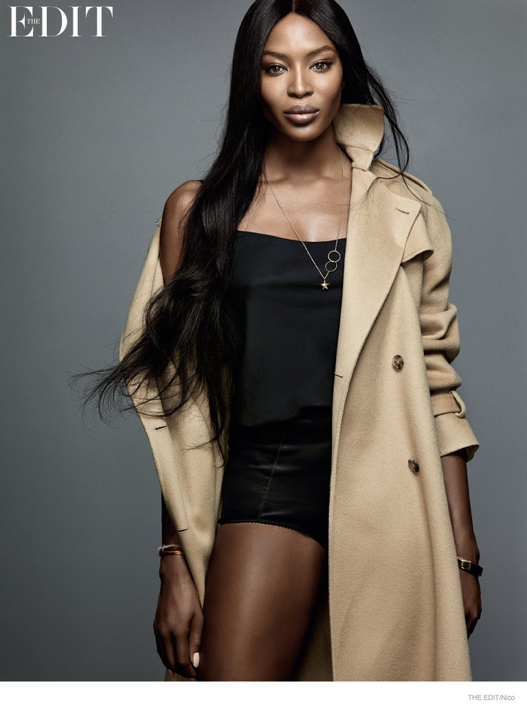 Naomi campbell models for net a porter s the edit for Net a porter
