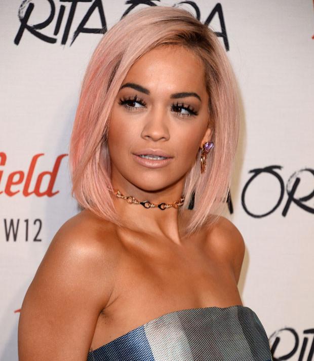 Rita Ora's New Pink Bob