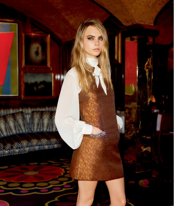 Topshop Holiday 2014 Ad Campaign Featuring Cara Delevingne 4