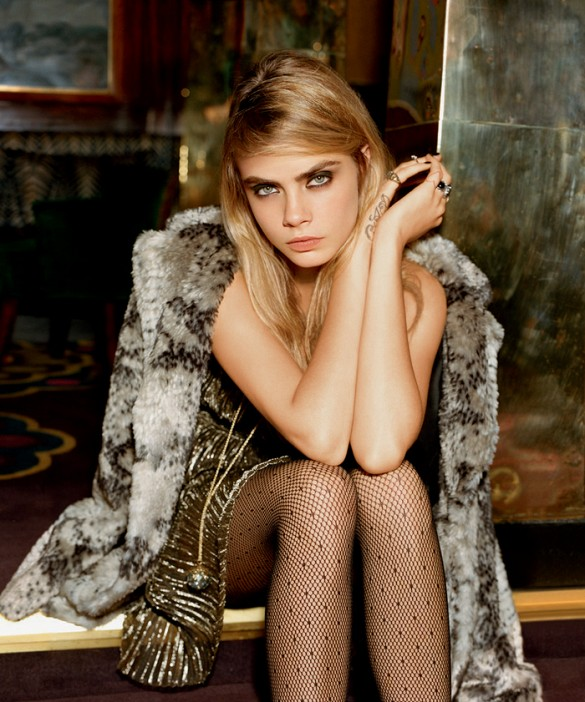 Topshop Holiday 2014 Ad Campaign Featuring Cara Delevingne