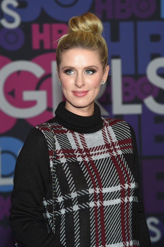 Celebrity Style - Nicky Hilton in Plaid Turtleneck Sweater Dress 2