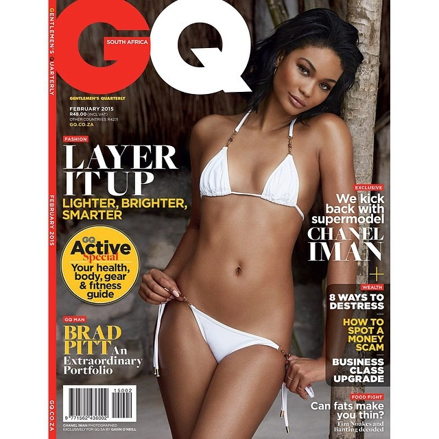 Chanel Iman Looks Good In Swimwear As She Poses On The GQ South Africa Cover