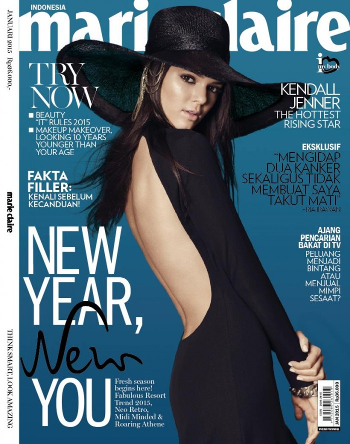 Kendall Jenner Covers Marie Claire For Indonesia January 2015