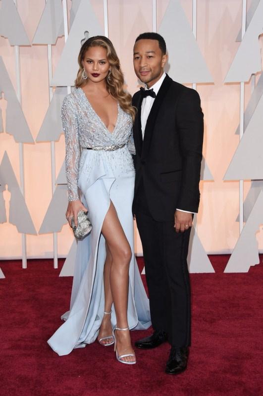 87th Annual Academy Awards Red Carpet Fashion - Chrissy Teigen & John Legend
