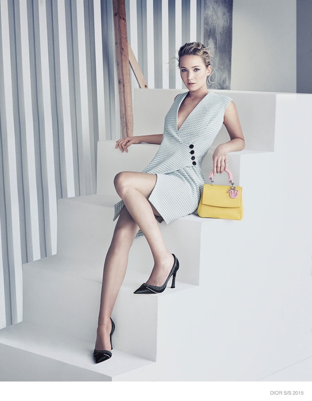 Jennifer Lawrence Models for Be Dior Spring '15 Ad Campaign 2