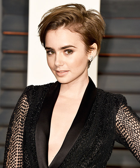 Lily Collins Shows Off New Head Turning Pixie Haircut
