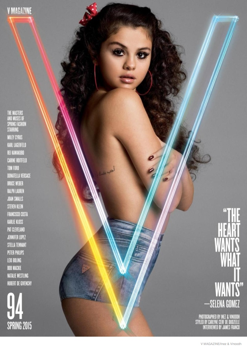 On The Cover -  Selena Gomez Rocks V Magazine Spring 2015 Issue 5