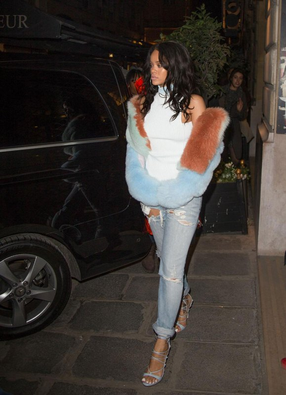 RIHANNA Out Shopping in Paris