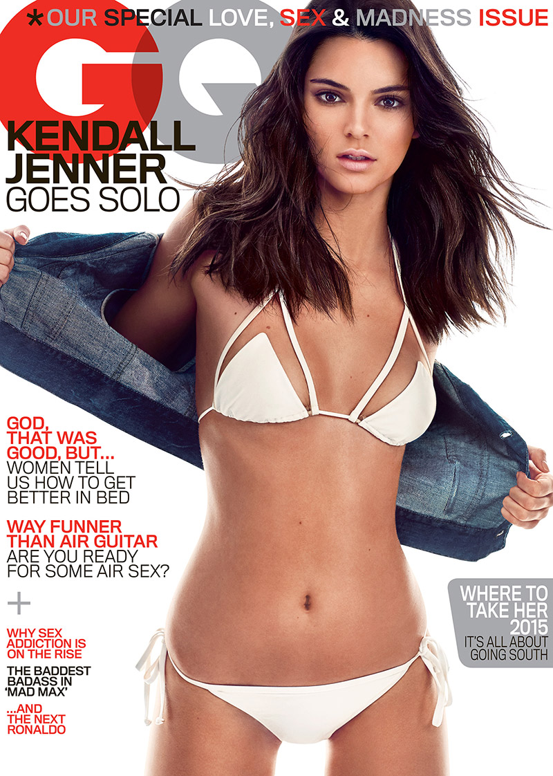 2015 Gq Men Of The Year Party In Los Angeles: Kendall Jenner Rocks White Bikini On May 2015 GQ Cover
