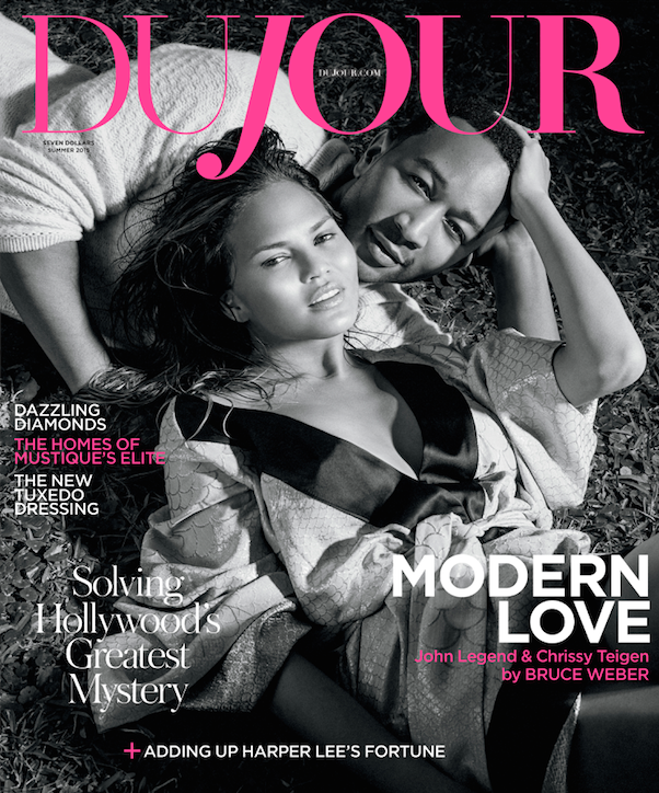 Chrissy Teigen & John Legend Get Kissy For DuJour Magazine