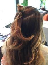 Hairstyle How-To Half-Up Double Knot 2