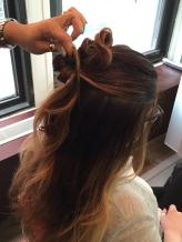 Hairstyle How-To Half-Up Double Knot