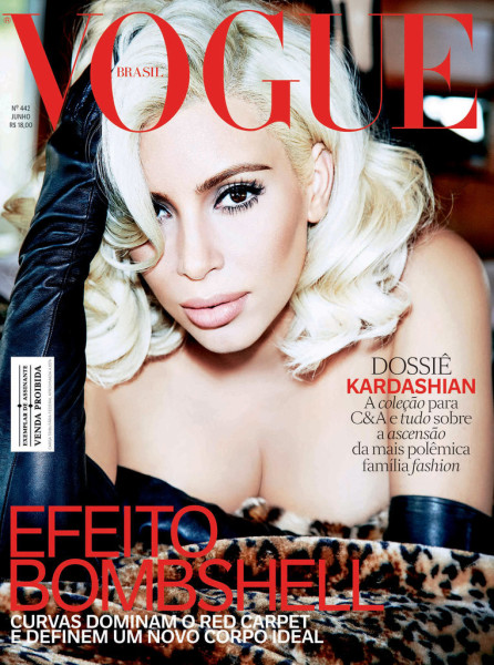 Kim Kardashian West Is A Blonde Bombshell In Vogue Brazil