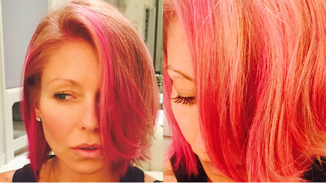 Kelly Ripa Turns Blonde Bob Pink See Her New Hair Color
