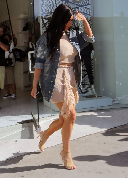 Kim Kardashian West Rocks 2 Piece Magda Butrym Fringe Set 5