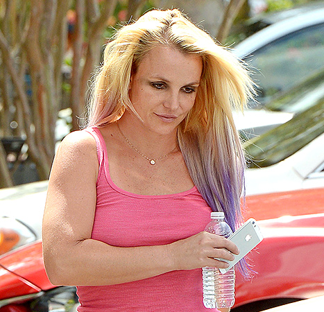 Britney Spears Gets Lavender With New Hair Color Change ...