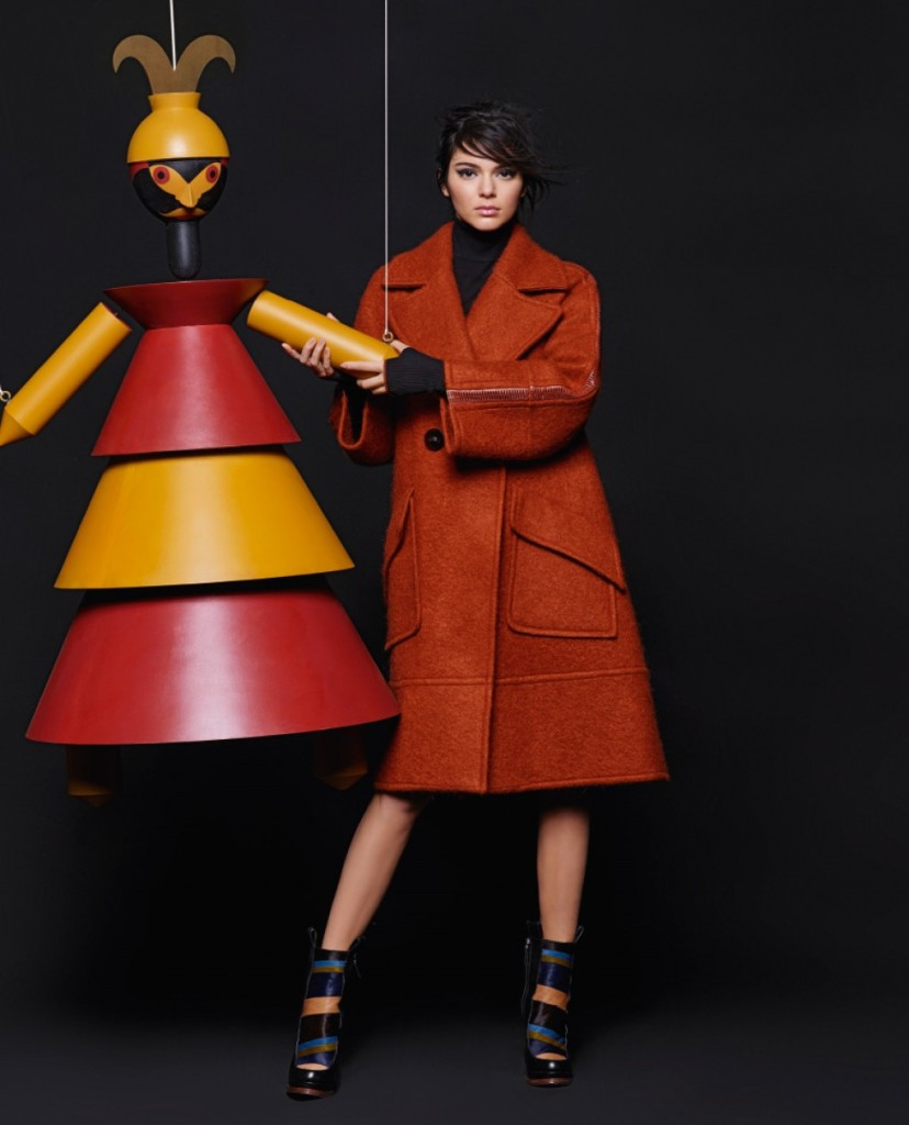 Kendall Jenner & Lily Donaldson For Fendi Fall-Winter 2015 Ad Campaign 10