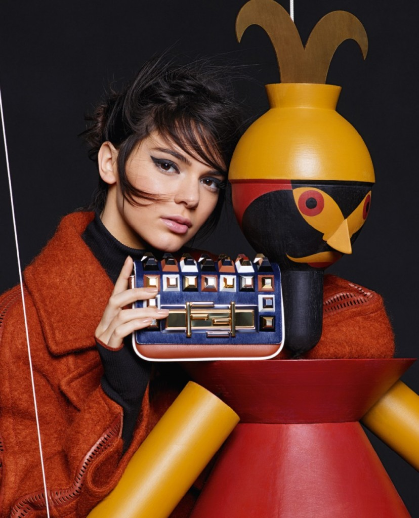 Kendall Jenner & Lily Donaldson For Fendi Fall-Winter 2015 Ad Campaign 9