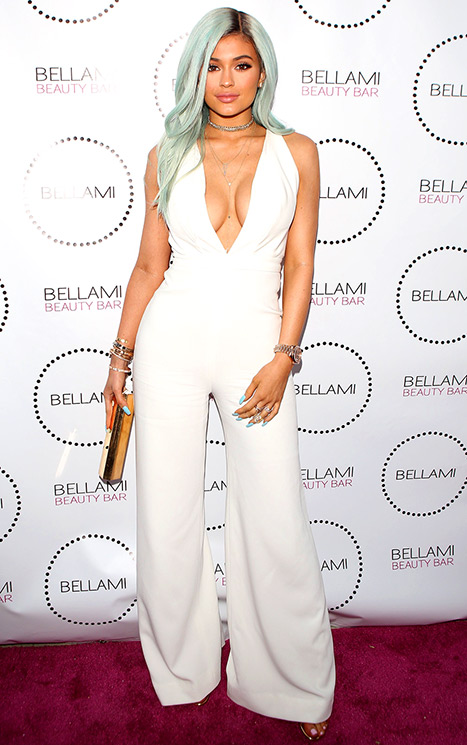 Kylie Jenner Goes Back to Blue Hair Color