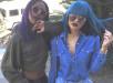 Kylie Jenner Rocks Blue Blunt Bang Bob 3