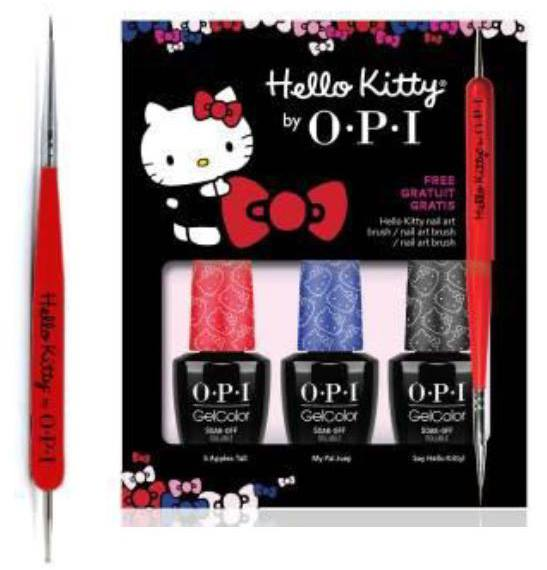 OPI Hello Kitty GelColor 2016 Nail Polish Collection 4