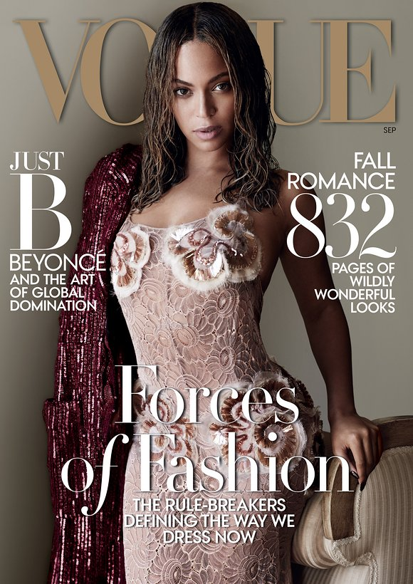 On The Cover Beyoncé for Vogue Magazine September 2015 4