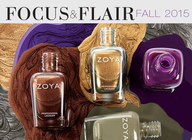 Zoya Focus and Flair Fall 2015 Nail Polish Collection