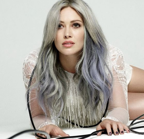 Hilary Duff Shows Off Her Rainbow Dyed Hair In Breathe In Breathe