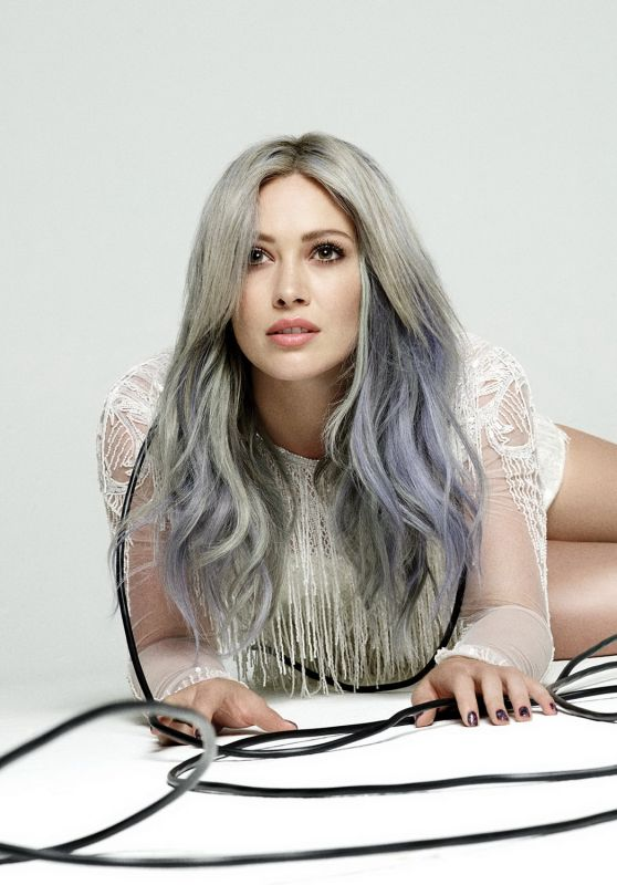 Hilary Duff Shows Off Her Rainbow Dyed Hair In 'Breathe In Breathe Out' Album Promoshoot 2