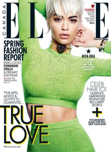 On The Cover - Rita Ora for ELLE Canada February 2016 Issue