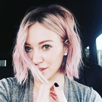 Hilary Duff Debuts Pink Sherbet Hair