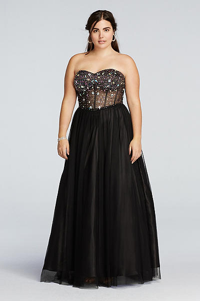 Black Prom Dresses 2016 Plus Size 4