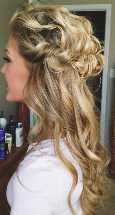 2016 half up half down prom hairstyles fashion trend seeker