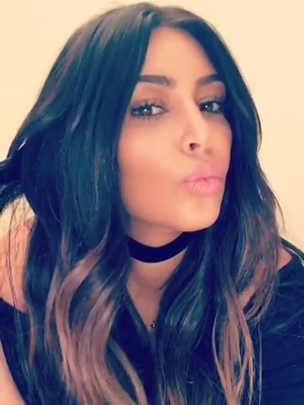 Kim Kardashian Goes Back To Ombré Trend With Shorter Strands
