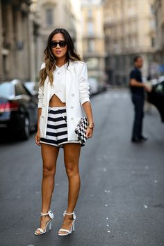 Now Trending - Cropped Tops Paired With Blazers 15