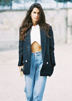 Now Trending - Cropped Tops Paired With Blazers 2