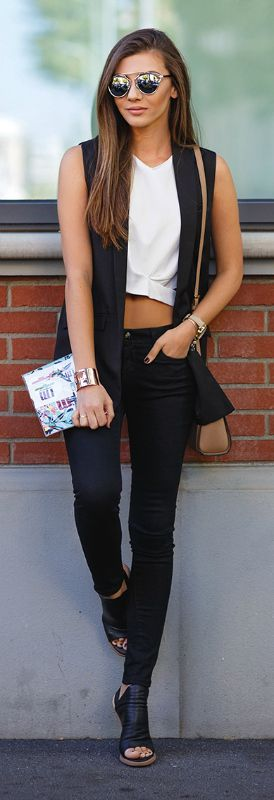 Now Trending - Cropped Tops Paired With Blazers 6