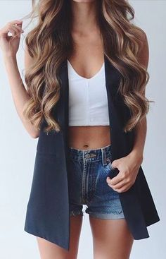 Now Trending - Cropped Tops Paired With Blazers 7