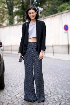 Now Trending - Cropped Tops Paired With Blazers 8