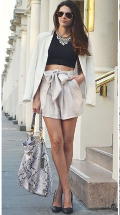 Now Trending - Cropped Tops Paired With Blazers 9