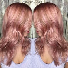 Rose Gold Hair Color 10
