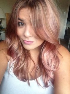 Rose Gold Hair Color 11