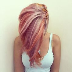 Rose Gold Hair Color 16