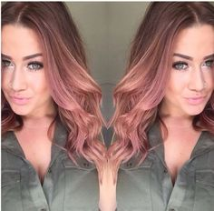 Rose Gold Hair Color 17